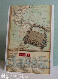 Niños Cars libre de correo de primera clase Día Del Padre Tarjeta Kit-Para Hacer 5 X A6 Tarjetas