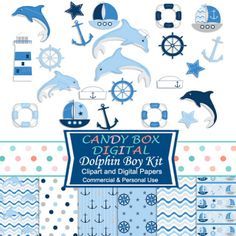 Your little sailor has arrived! and here's the way to celebrate - with these wonderful clipart and digital papers made with that Little Man in mind. Perfect for all sorts of graphic uses: scrapbooks, web backgrounds, card making, announcements, invitations, photo cards, etc!