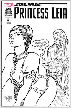 Princess Leia The Force Awakens Sketch Cover by ChrisMcJunkin