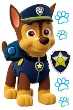Paw Patrol - Meet the characters from the Nickelodeon hit show for preschoolers, Paw Patrol.: Chase from Paw Patrol Paw Patrol Rocky, Paw Patrol Png, Paw Patrol Party, Paw Patrol Cartoon, Paw Patrol Birthday Cake, Birthday Cake Toppers, Personajes Paw Patrol, Imprimibles Paw Patrol, Paw Patrol Cake Toppers