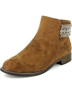 Boots plates à déco perles                                          noir Femme