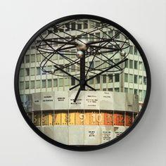 East berlin Weltzeituhr Wall Clock by Friedas Glück - $30.00 Berlin Cafe, Wall, Gifts, Walls