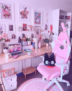 Kawaii Room, Kawaii Girl, Gaming Station, Aesthetic Rooms, Demon Slayer, Pc Gamer, Games For Girls, Thinking Of You, Style