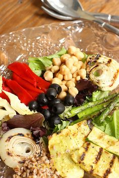 Grilled Mediterranean Vegetable Salad|Craving Something Healthy