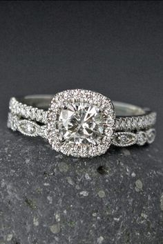 Sparkle Like A Diamond: 12 Moissanite Engagement Rings ❤ See more: http://www.weddingforward.com/moissanite-engagement-rings/ #weddings