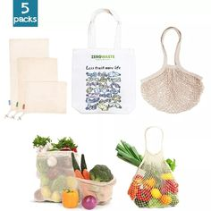 Cotton Pads Travel Cutlery Zero-Waste Gift Set Reusable Folding Cotton Tote Bag Second-Hand Materials Reusable Napkins