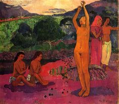 by Paul Gauguin in oil on canvas, done in . Find a fine art print of this Paul Gauguin painting. Paul Gauguin, Maurice Denis, 21st Century Artists, Felix Vallotton, Artist Van Gogh, Impressionist Artists, National Gallery Of Art, Museum, Art Moderne