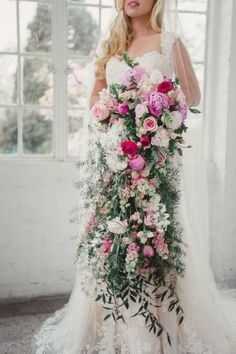 Stunning Cascading Bridal Bouquets