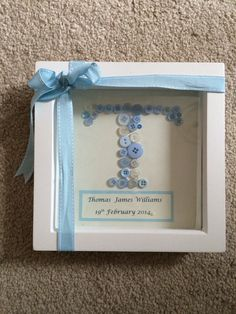 Personalised Baby Frame available in any colour.   Creations_for_occasions@outlook.com   £25