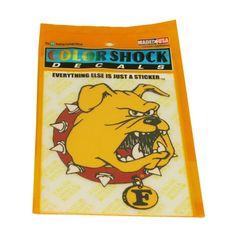 Ferris State Bulldog Logo Color Shock Car Decal