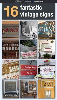 16 vintage signs