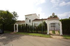 Home: The holiday home in Marbella - called Casa Roll - where Cilla Black died on Saturday...