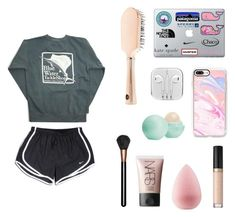 """"" by miamaries ❤ liked on Polyvore featuring Casetify, Too Faced Cosmetics, Forever 21, beautyblender, NARS Cosmetics, MAC Cosmetics, Eos and NIKE"