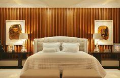 Residência Barra da Tijuca / AF Arquitetura #wall #bedroom #bed #cabeceira