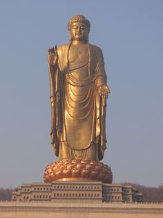 The Spring Temple Buddha (Henan, China) is the world's tallest statue at 128 m. Completed 2008 - built as an answer to the destruction of the Buddhas of Bamyan. Astrogeographic position: both coordinates in  solid, defensive earth sign Capricorn sign of control, stability, strongholds, exorcism. FL3 4.    http://blog.astrogeography.com/?p=5192