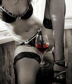 is Sexy 🍷 Sexy Women, Woman Wine, In Vino Veritas, Foto Art, Black N White, Sensual, Sexy Legs, Color Splash, Nylons