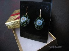 Tiny Finch Egg Love In A Mist Earrings Pysanky By So Jeo