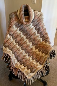 Free Shawl Crochet Pattern by Marly Bird created by Leah's Cards & Crafts in Caron Cakes Buttercream Yarn Crochet Scarves, Crochet Shawl, Crochet Clothes, Knit Crochet, Crochet Sweaters, Crochet Vests, Crochet Edgings, Freeform Crochet, Crochet Dresses
