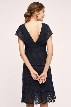 Clarinda Tiered Dress; back view
