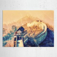 china great wall landscape oil painting Landscape