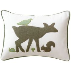 DwellStudio Kids Boudoir Pillow Woodland Tumble Mocha $32