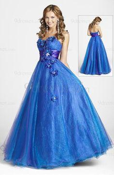 Fairytale A-line Sleeveless Floor Length Sash Elastic Woven Satin Graduation Dress