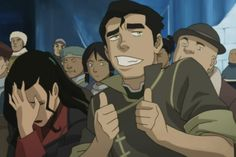 THIS FACE!  Random guy: Do you know him?   Asami: Who, him?! No, never seen him in my life! *scoots away*