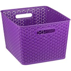 Home Basics Medium Plastic Storage Basket (19 CAD) ❤ liked on Polyvore featuring home, home decor, small item storage and plastic storage baskets
