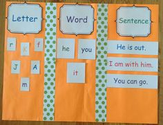 Letter, Word, and Sentence sorting activities