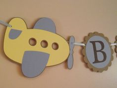 Airplane Banner, Baby Boy, Its a Boy, baby shower decoration, plane, pastel colors, custom Baby Shower Banner , YOU pick colors. $26.00, via Etsy.