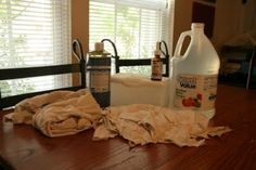How to make homemade disinfectant wipes.  I'm addicted to using sanitizer wipes in the kitchen, and I feel terrible about how many I throw away -- so this DIY recipe is definitely on my to-do list.