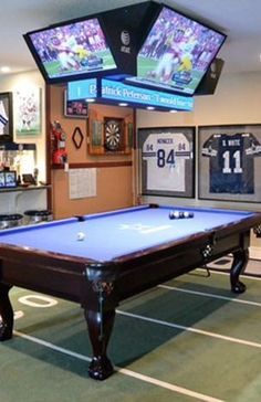 Ultimate game room design for the biggest dallas cowboys fan. Home decor ideas and man cave essentials.