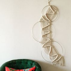 Circles  Macrame and Metal Wall Hanging by amyzwikelstudio on Etsy