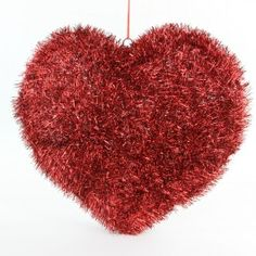 """24"""" 3-D TINSEL HEART RED"""