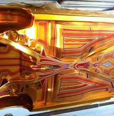 wanna see WILD custom paint. Car Paint Jobs, Custom Paint Jobs, Custom Art, School Painting, Car Painting, Candy Paint, Lowrider Art, Helmet Paint, Airbrush Art