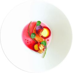 Salmon beetroot raspberry by marco tola