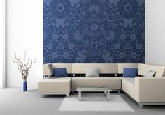 'Garden's Fury' wallpaper design by Lucinda Wei available at wallpapered.com