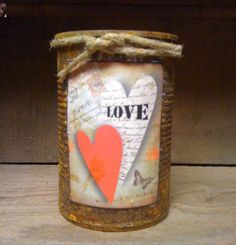 Can Candle  Rusty Can Candle  Scented  by DebsCandlesandDreams