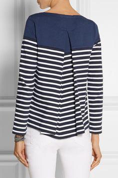 Sacai | Sacai Luck striped cotton-jersey top | NET-A-PORTER.COM