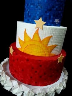 Philippines flag cake Cute Cakes, Yummy Cakes, Filipino Recipes, Filipino Food, Freedom Party, Philippines Flag, Philippines Culture, Asian Cake, Flag Cake