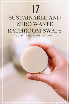 Transitioning to a zero waste bathroom can feel overwhelming but this guide walks you through 17 sustainable and low waste swaps to create a healthier and more eco-friendly bathroom. Going Zero Waste, Reduce Waste, Reduce Reuse, Reuse Recycle, Sustainable Living, Sustainable Products, Homemade Deodorant, Bathroom Essentials, Feeling Overwhelmed