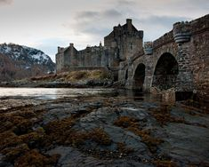 Eilean Donan Castle in Scotland. It is situated on its own island. First inhabited around the 6th century, but the first fortified castle was built in the mid 13th century. So beautiful.