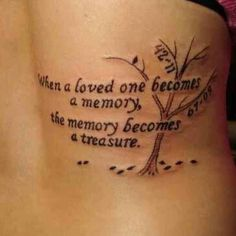 I love this tattoo. Meaningful