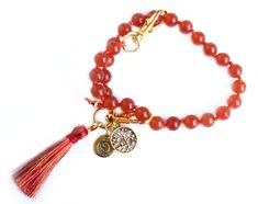 Pranachic - Things That Make You Go Ommm. Tie Pattern, Thing 1, Life Symbol, Carnelian, Yin Yang, Anklet, Gemstone Beads, Tassel Necklace, Make It Yourself
