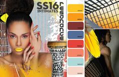 FASHION VIGNETTE: TRENDS // COLOR SOLUTIONS INTERNATIONAL (CSI + DYSTAR) . INTIMATES INSPIRATIONS SS16 PRE-SEASON