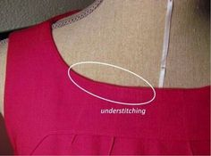 Understitching on a red dress on Craftsy!------very good tut