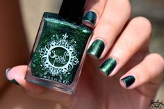 Spell Polish is a boutique/indie nail lacquer with a luxurious formula of glitters, micas and pigments- MINUS the toxins! Out Of The Woods, Swatch, Nail Polish, Glitter, Beautiful, Going Out, Woodwind Instrument, Finger Nail Painting, Manicure