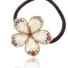 Smile five-pointed star crystal headbands hair rope hair wear hair accessories *** You can find out more details at the link of the image.