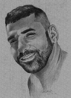 retrato desenho a lápis por antonio Costa