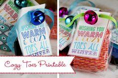 Cozy Toes Printables from Our Best Bites-Holiday Neighbor Gifts ideas